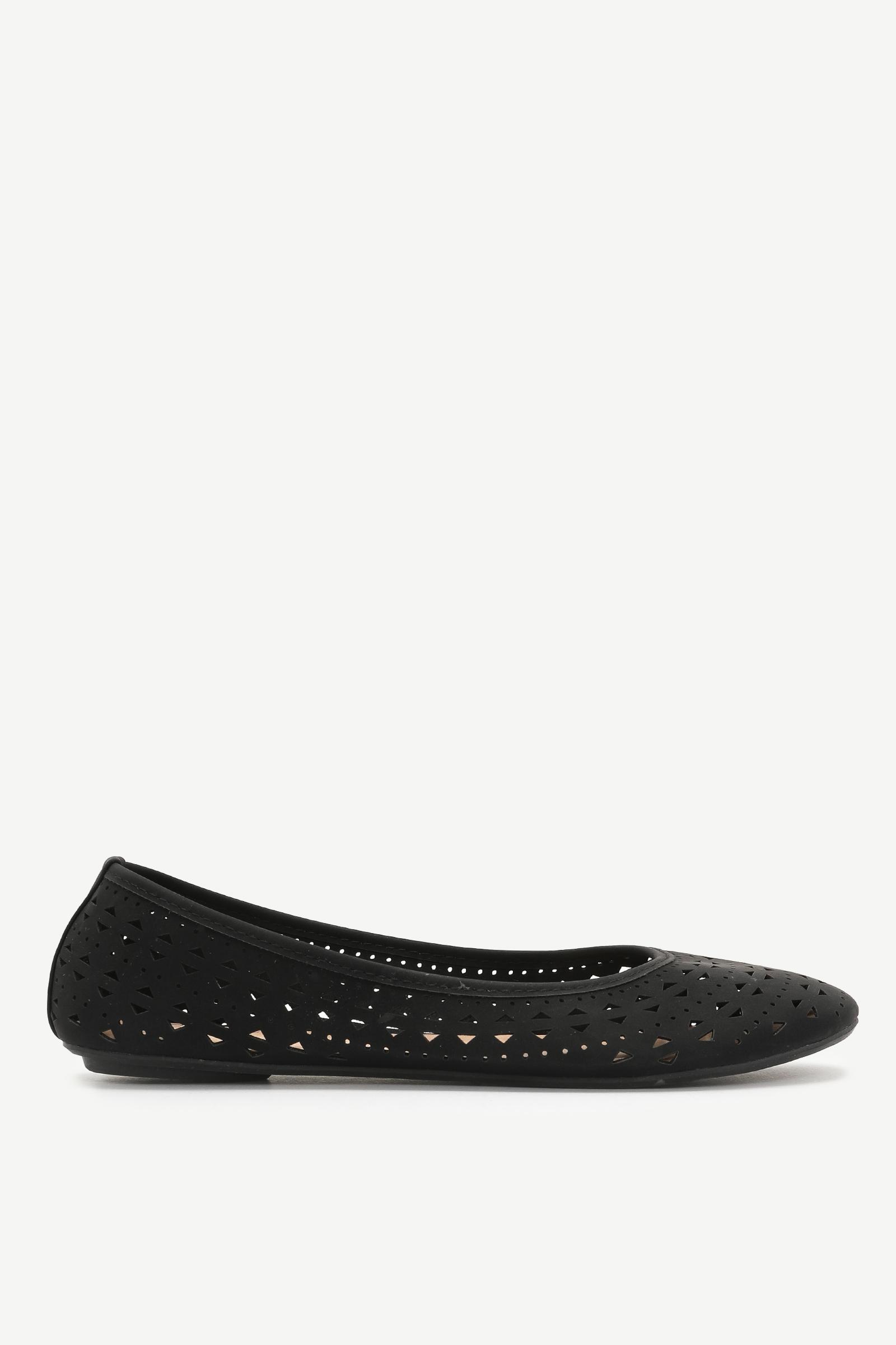 Faux Leather Cutout Flats - Shoes   Ardene