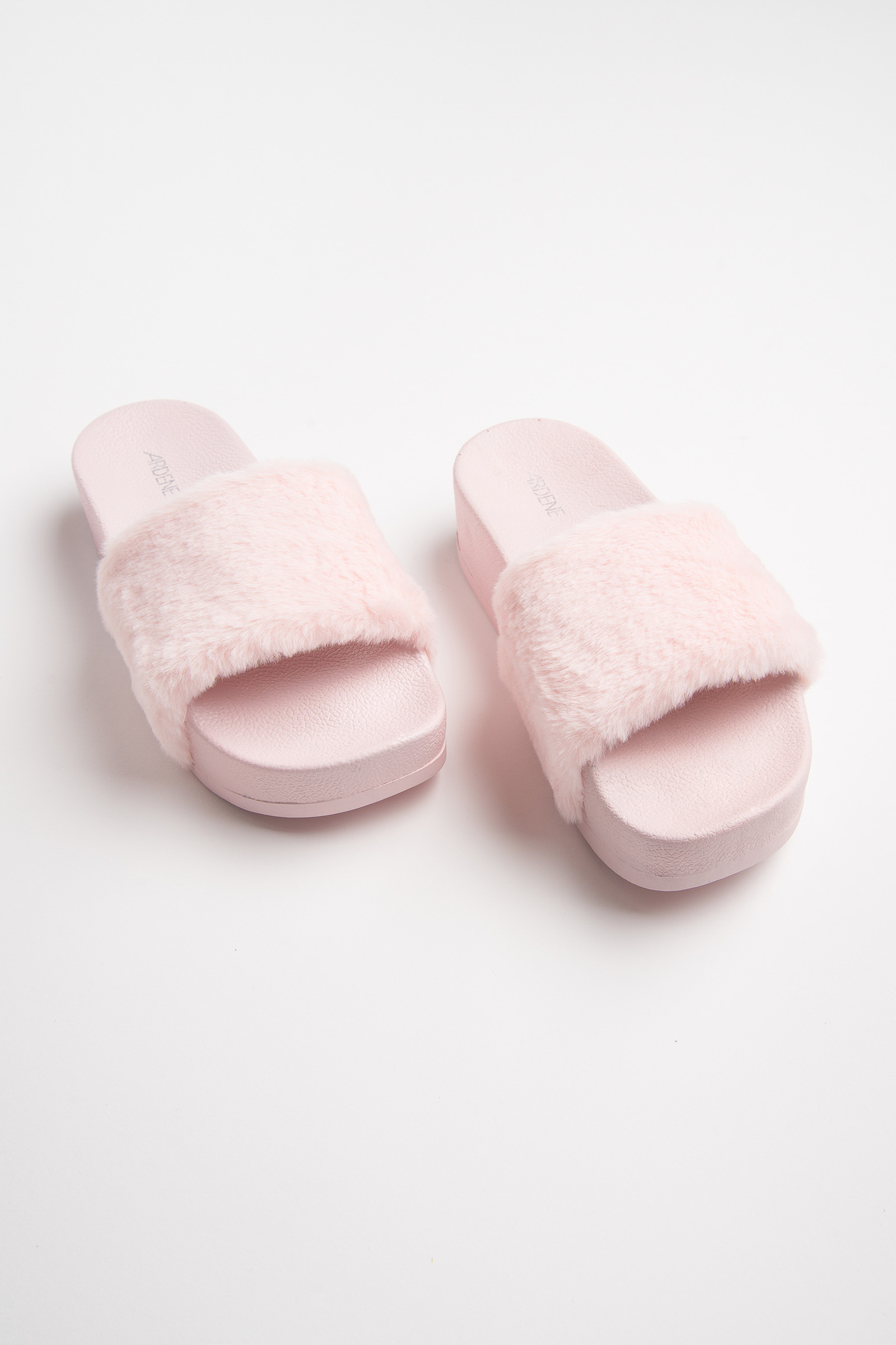 fe49e9f5b783 Platform Fur Slides - Shoes