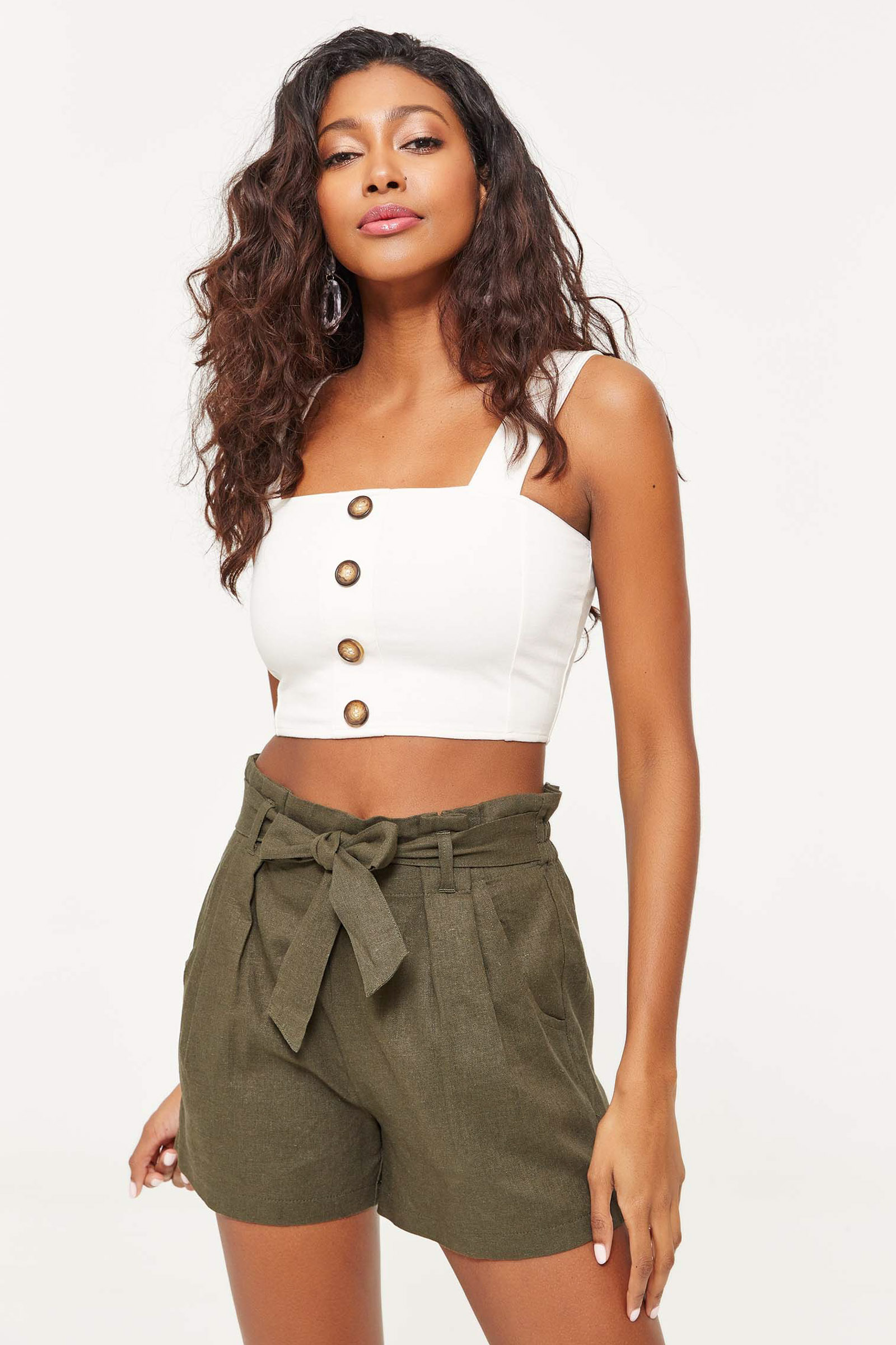 Linen Paper Bag Shorts Clothing Ardene