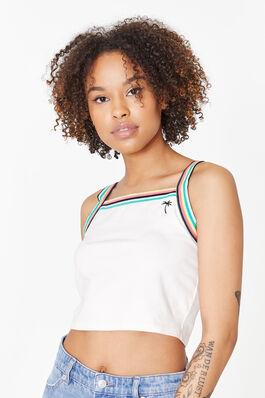 55cb06b46b5a9 ... fall winter 2019 CLOTHING. Square Neck Striped Crop Tank