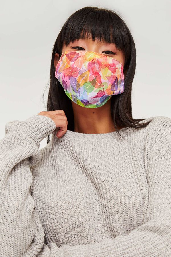 Leaf Print Reusable Face Covering