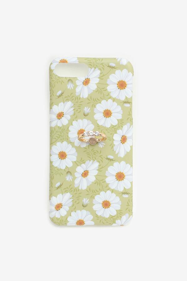 Étui d'iPhone 6/7/8 Plus à fleurs avec anneau