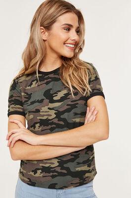 9ca58171adeec0 Super Soft Camouflage Ringer T-shirt.  10.90  6.54. 40% OFF. Ardene Women s  Chiffon ...