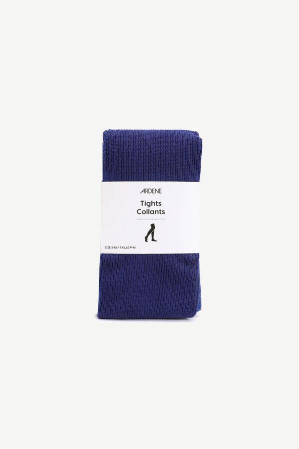 Collants en tricot côtelé