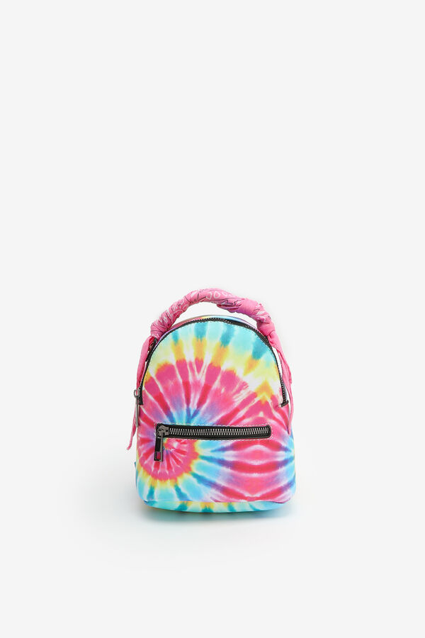 Mini Tie-Dye Backpack with Paisley Scarf
