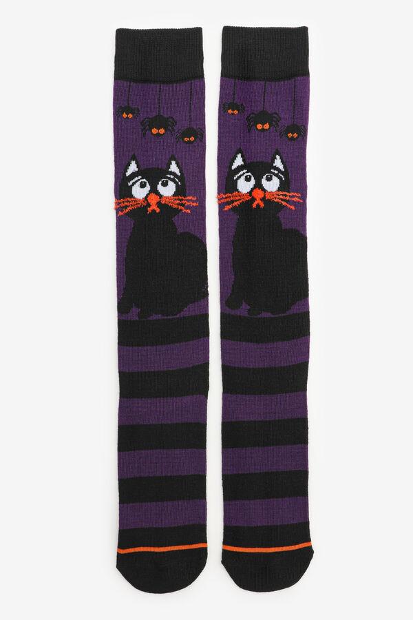 Cat & Spiders Over-the-Knee Socks