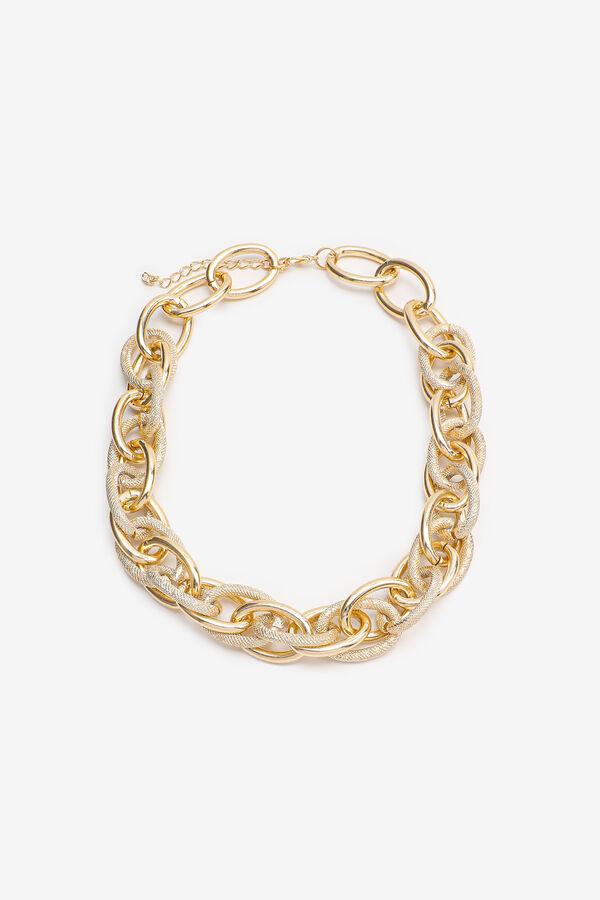 Collier doré en chaîne épaisse