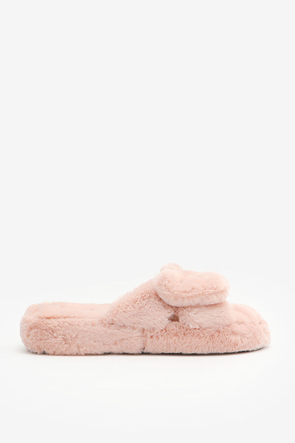 Faux Fur Bow Slippers