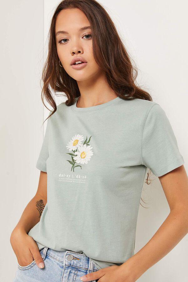 T-shirt en coton classique à marguerites