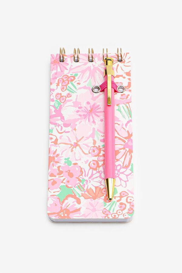 Cahier de notes fleuri à spirale avec stylo
