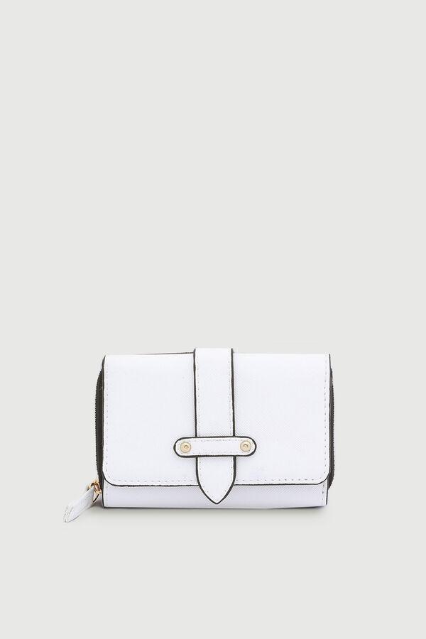 Faux Leather Folded Wallet