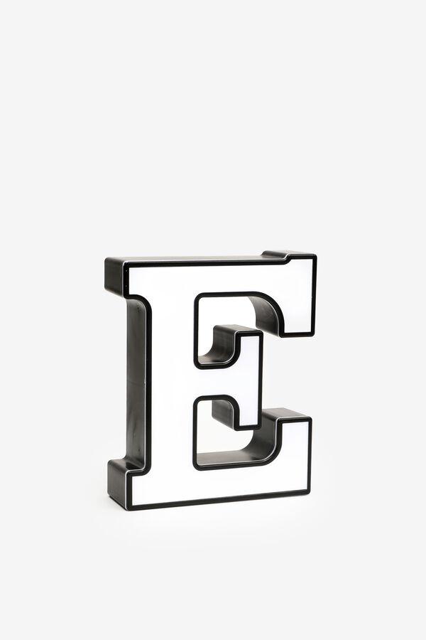 Lettre E lumineuse
