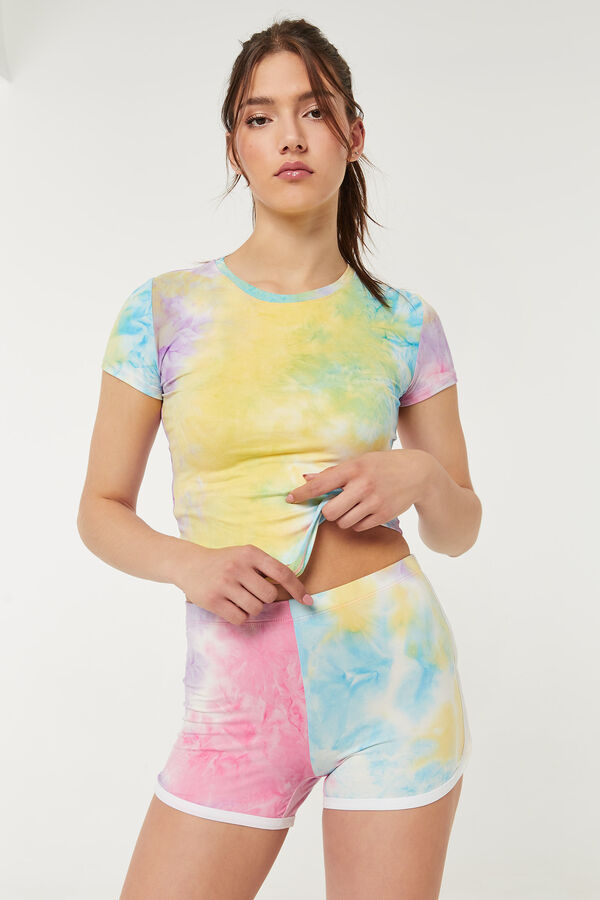 Sunset Tie-Dye Dolphin Shorts