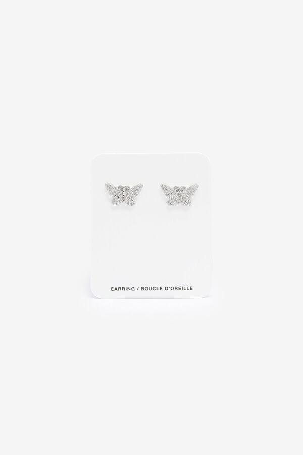 Boucles d'oreilles papillons en argent sterling
