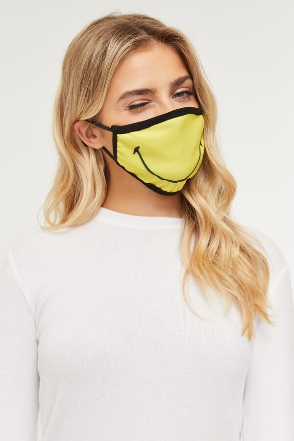 Smiley Reusable Face Covering