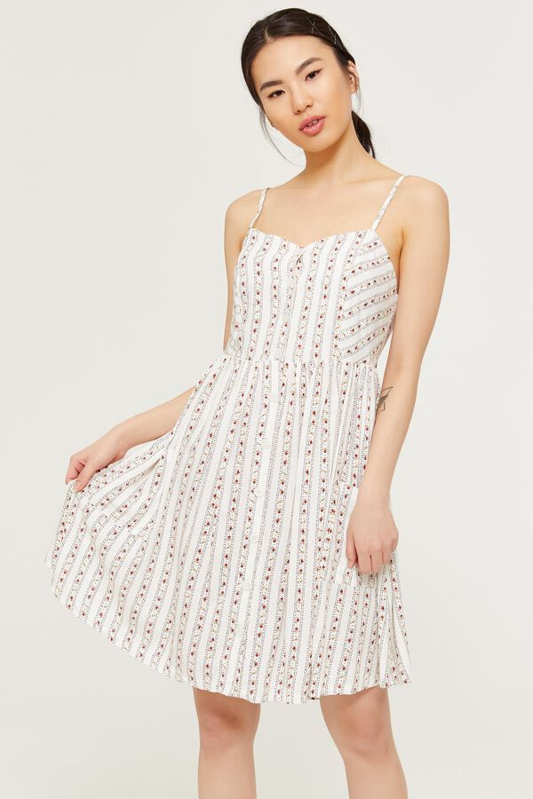 2491bb90208f Ardene Ardene Women's Floral Sweetheart Dress, Floral Cotton white, fall  winter 2019 CLOTHING, ...