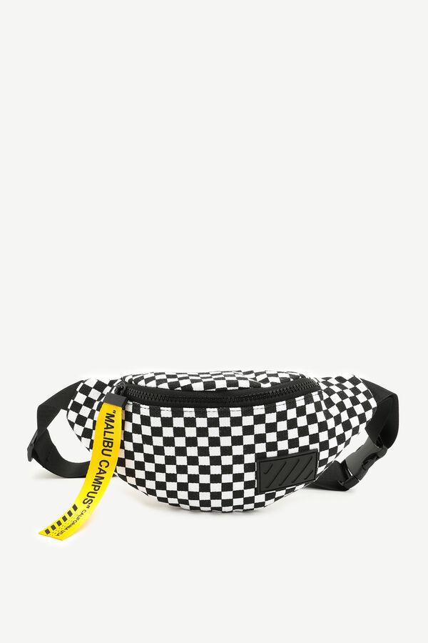 Nylon Checkered Fanny Pack