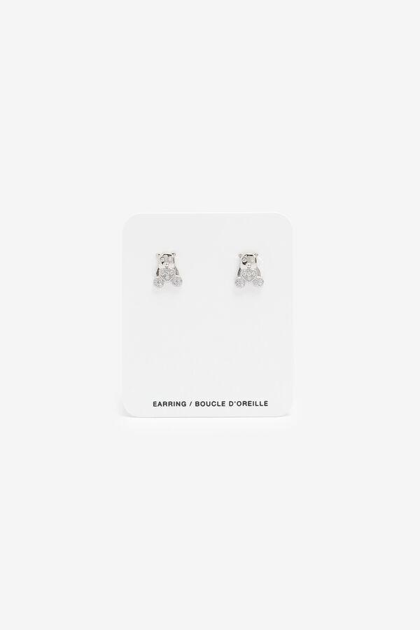 Boucles d'oreilles oursons en argent sterling