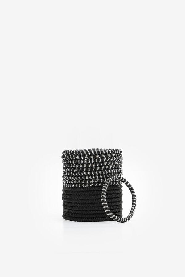 Pack of Solid & Metallic Hair Ties