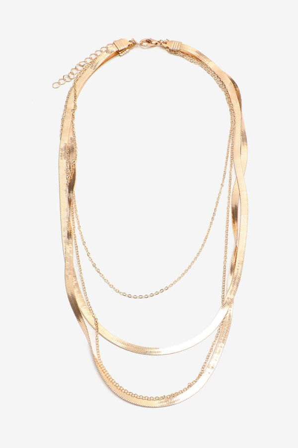 Layered Necklace with Flat Chains