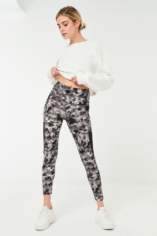 Marble High Rise Leggings with Pocket