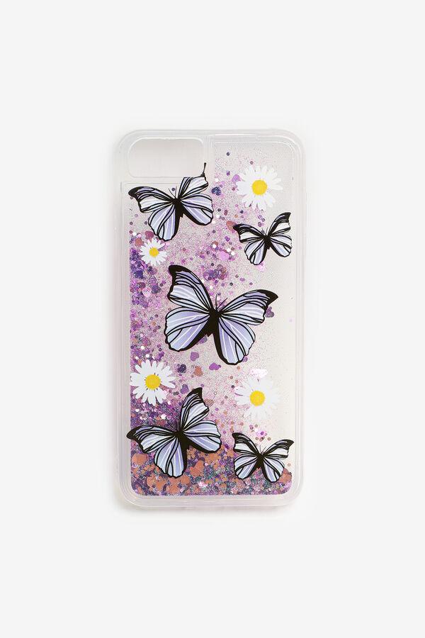 Étui d'iPhone 6/7/8 Plus à fleurs et papillons