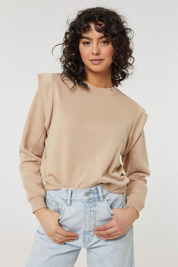 Flounced Shoulder Sweatshirt