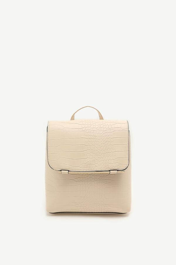 Snakeskin Flap Backpack