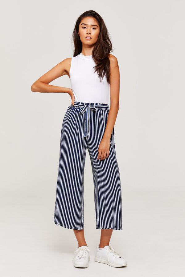 b0ba6bd20691b Ardene Ardene Women's Striped Paper Bag Pants, blue, spring summer 2018  CLOTHING, ...