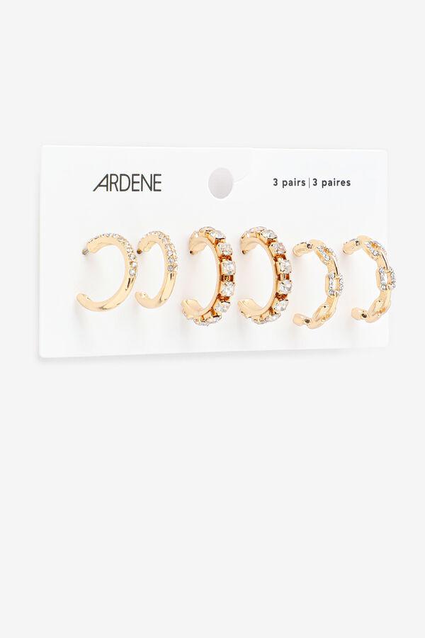 Boucles d'oreilles anneaux avec pierres
