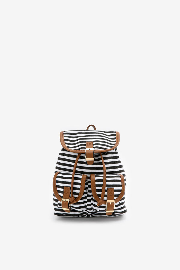 Striped Drawstring Backpack