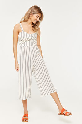 0f1d2c9a9dcc Striped Twisted Culotte Jumpsuit.  39.90  27.93. 30% OFF. EXTENDED SIZES Ardene  Women s Basic Super Soft Romper ...