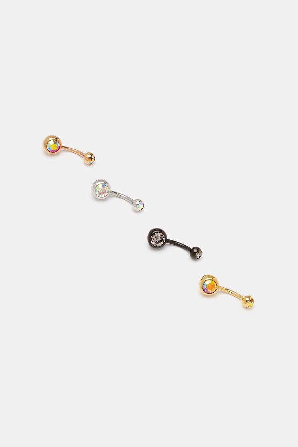 Pack Of Faux Gem Navel Piercings Accessories Ardene