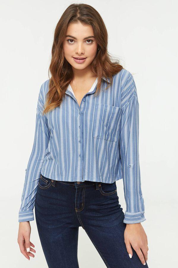 Chemise courte à rayures