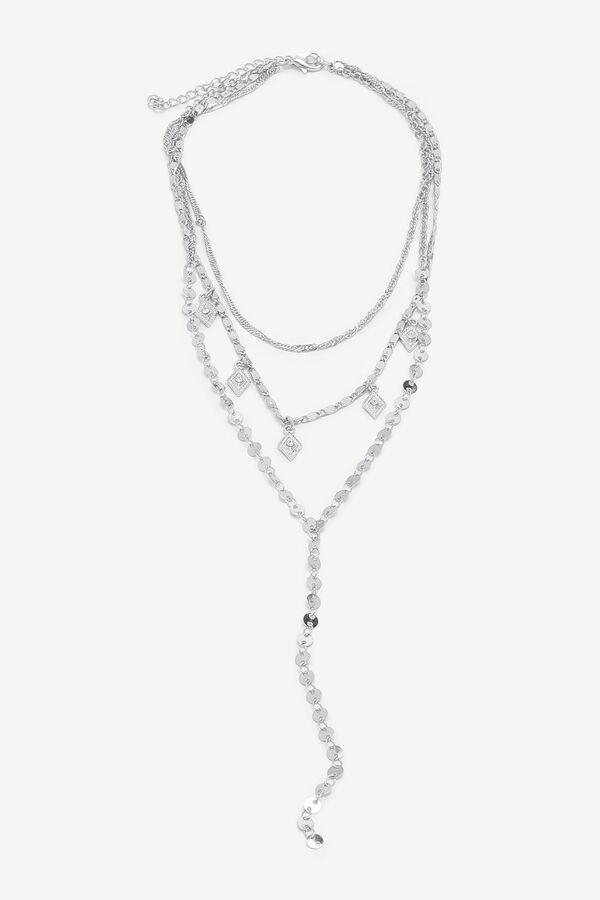 Collier superposé à breloques en diamant