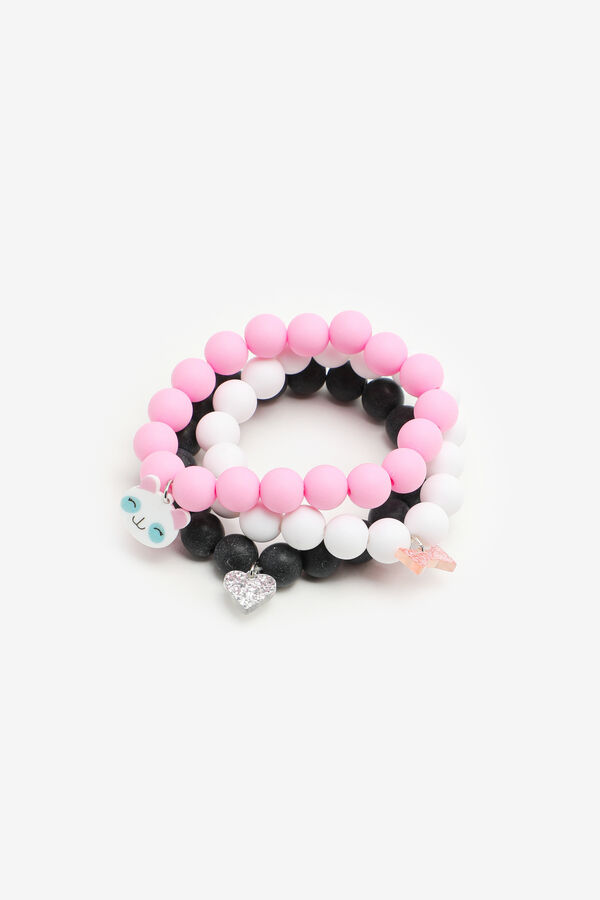 3-Color Bracelets with Charms for Girls