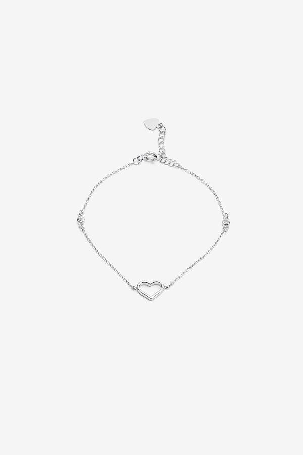 Bracelet à coeur ouvert en argent sterling