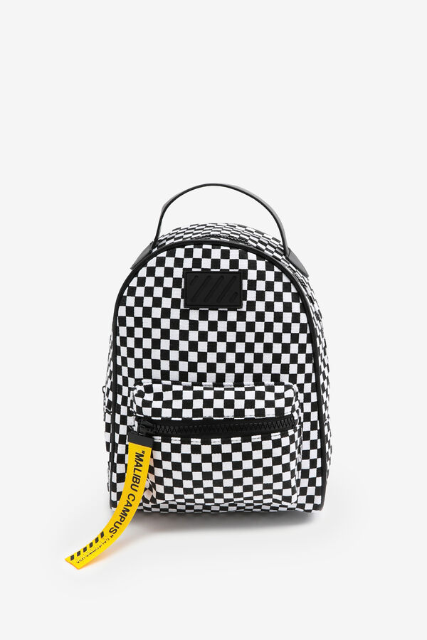 Chequerboard Sporty Nylon Backpack