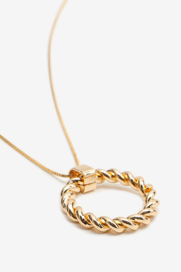 Twisted Ring Necklace