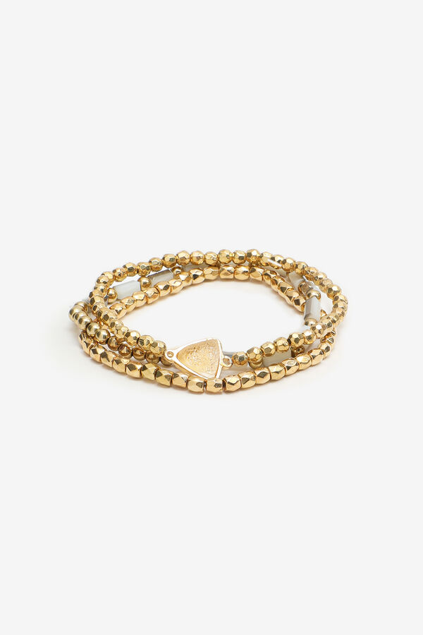 3-Pack Gold-Tone Beaded Bracelets