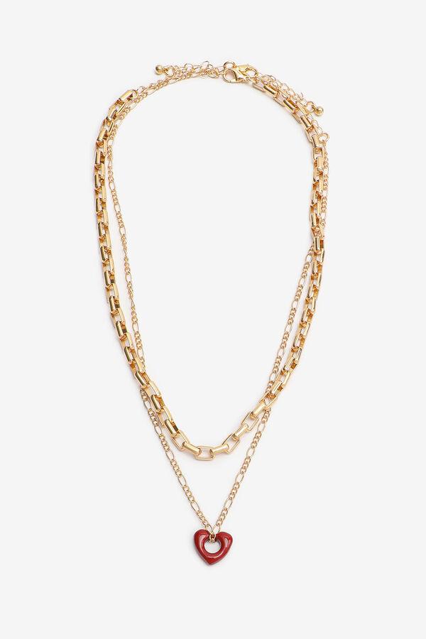 Colliers de chaîne superposés avec coeur
