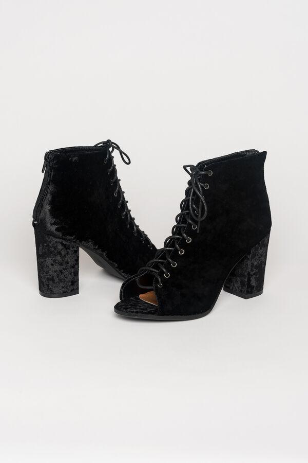 fa98e3eeb8c8 Images. Crushed velvet laced heels