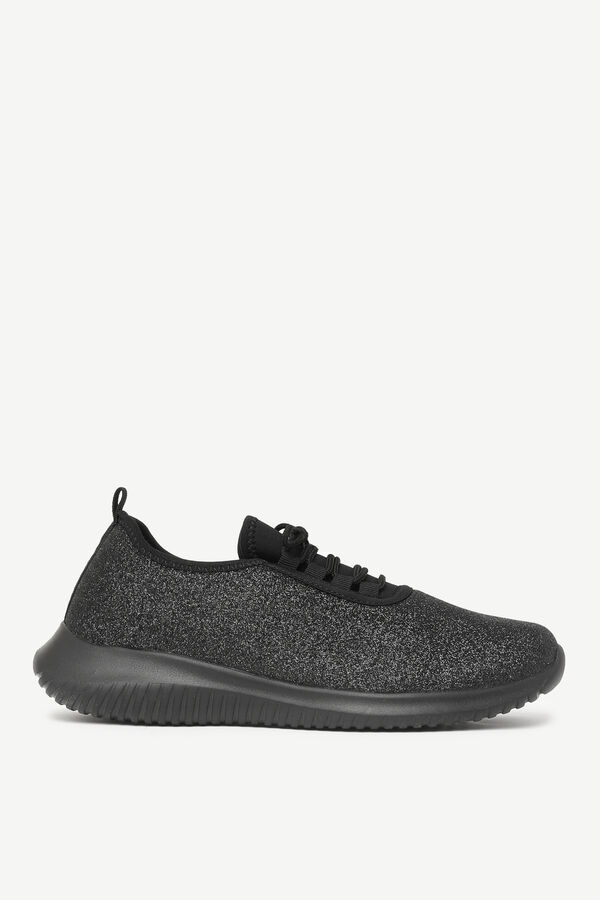 Canvas Laced Athletic Sneakers