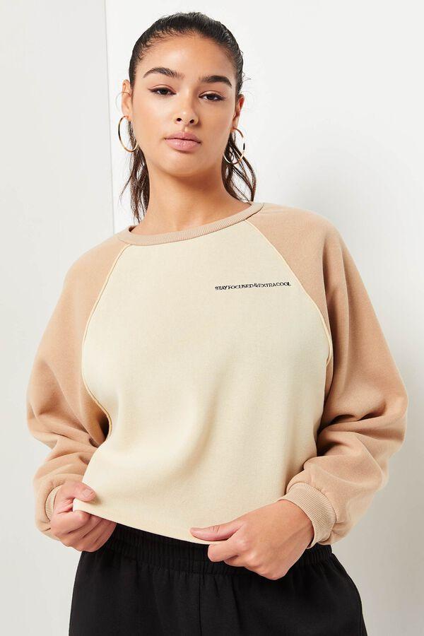 2-tone Raglan Sweatshirt