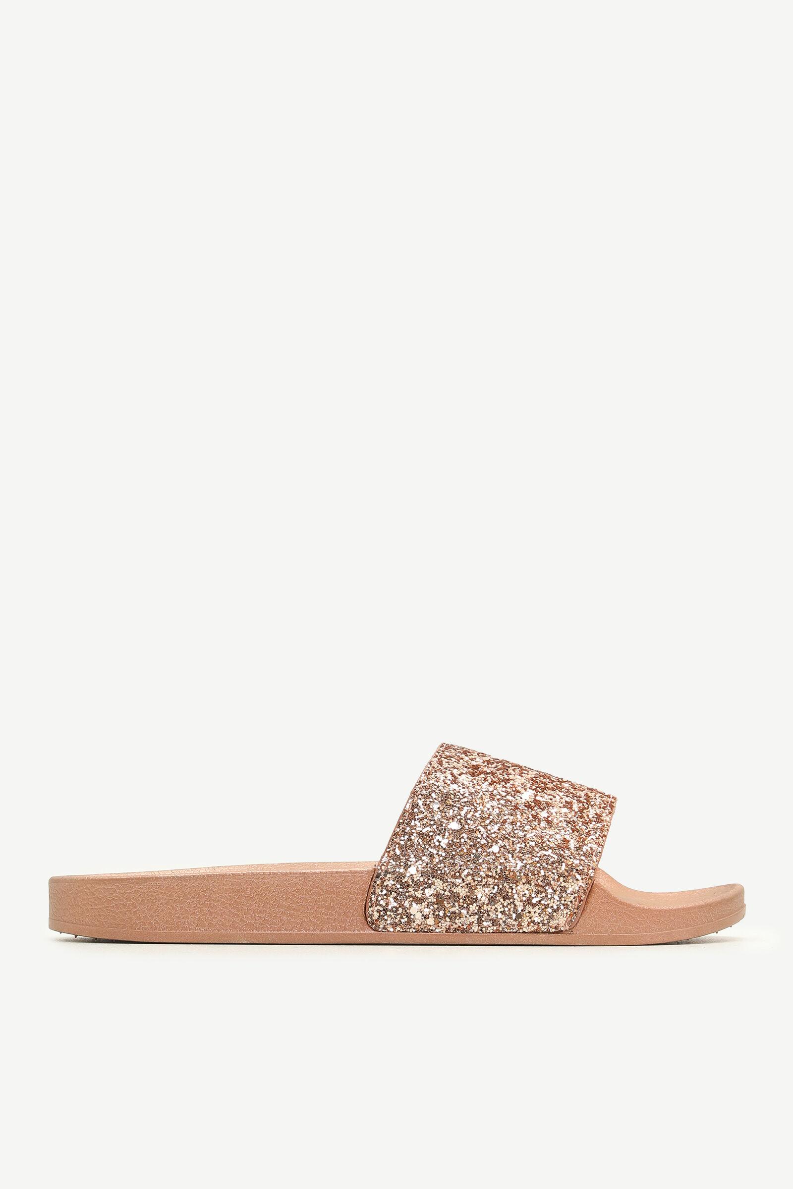Glitter Pool Slides - Shoes   Ardene