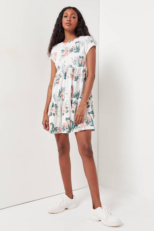 Tiered Floral Mini Dress