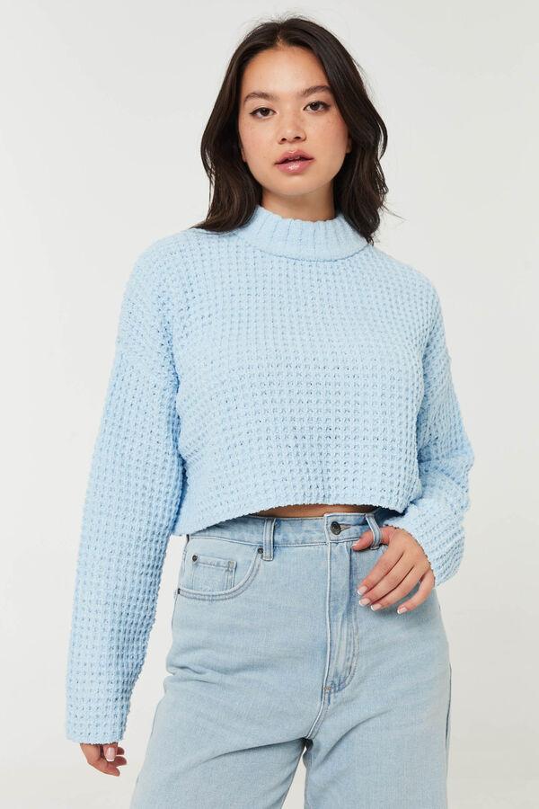 Shaker Stitch Mock-Neck Sweater
