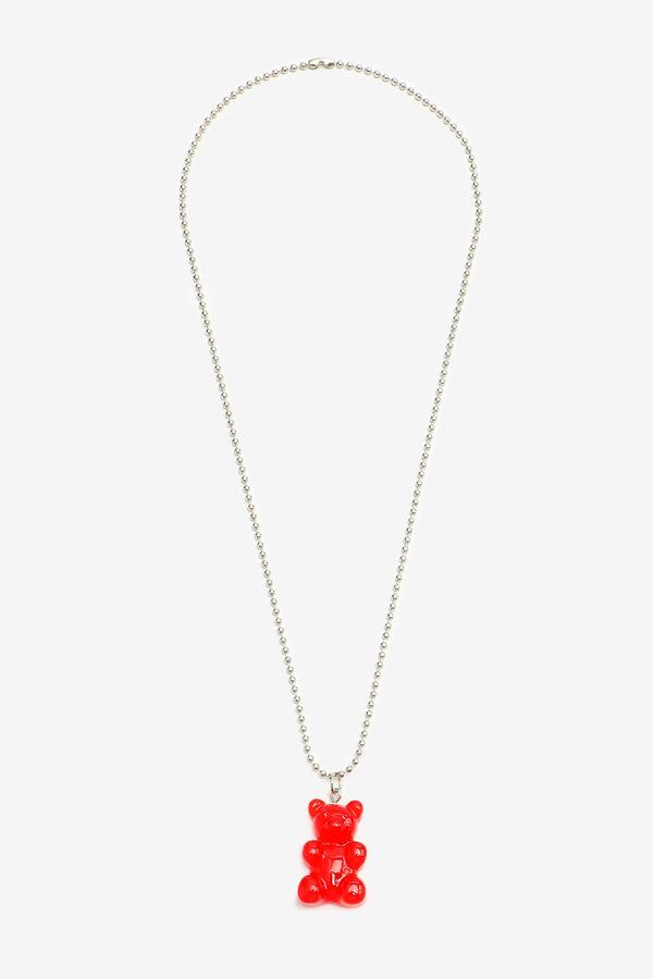 Collier à perle avec pendentif d'ours
