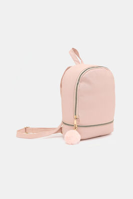 c60c66d34d5b Faux Leather Backpack with Pompom