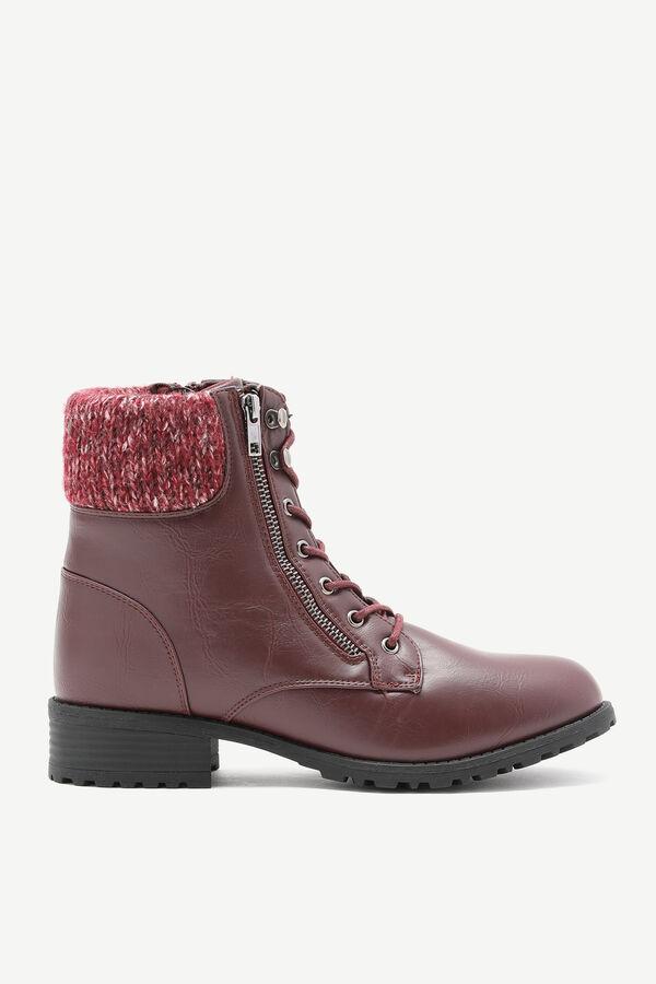 Knit Cuff Combat Boots